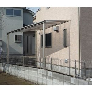 アルミテラス屋根 ヴェクターテラス屋根 フラット 2.5間7尺 柱標準タイプ 600N エクステリア|kantoh-house