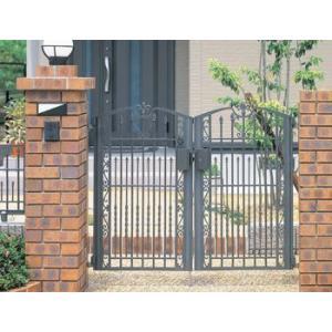 門扉 Ykk ap 鋳物 セレネス1型 両開き 門柱タイプ 0914|kantoh-house
