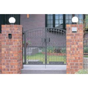 門扉 Ykk ap 鋳物 門扉 セレネス3型 両開き 門柱タイプ 0914|kantoh-house