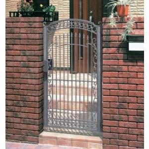 門扉 Ykk ap 鋳物門扉 セレネス4型 片開き 門柱タイプ 0914|kantoh-house