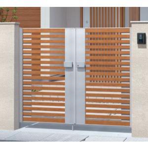 アルミ門扉 マイリッシュ A4型 両開き 門柱タイプ 0912|kantoh-house