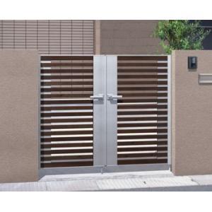 アルミ門扉 マイリッシュ A4型 両開き 門柱タイプ 0914|kantoh-house
