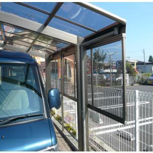 カーポート 側面パネル 3型50 H1000補助柱付(隙間カバー無)|kantoh-house