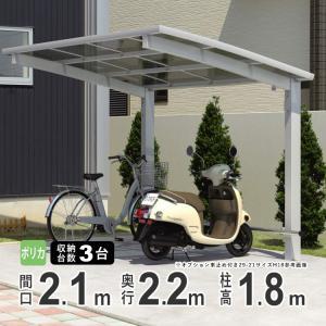 サイクルポート 自転車置場 DIY カムフィエース ミニ 2221 H18 三協アルミ 22-21|kantoh-house