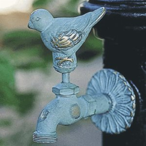 アニマル蛇口 スズメ(青銅色)ガーデン 水回り|kantoh-house