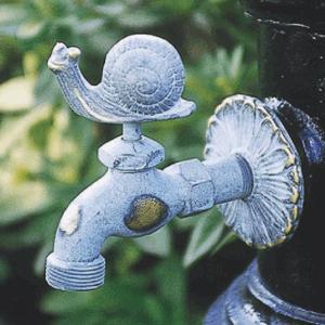 アニマル蛇口 カタツムリ(青銅色)ガーデン 水回り kantoh-house