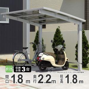 サイクルポート 自転車置場 DIY カムフィエース ミニ 2218 H18 三協アルミ 22-18|kantoh-house