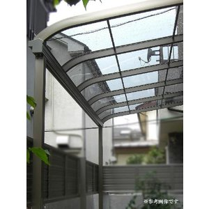 アルミテラス屋根 サンライズテラス屋根 2.0間4尺 標準柱 エクステリア HONDALEX|kantoh-house