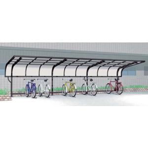 サイクルポート 自転車置場 屋根 サイクルキャップ 縦2連棟 J55・24-21 YKK|kantoh-house