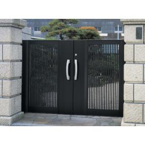門扉 門 アルミ門扉 エクゼウス2型 両開き 門柱タイプ 1016|kantoh-house