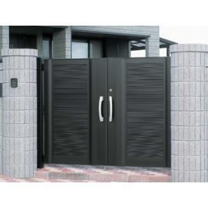 門扉 門 YKKエクステリア門扉 アルミ門扉 エクゼウス5型 両開き 門柱タイプ 0916|kantoh-house