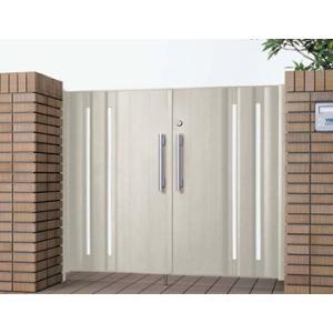 アルミ門扉 エクゼウス8型門扉 両開き 門柱タイプ 1014 ハイグレードな門扉|kantoh-house