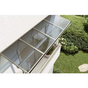 2階用 アルミテラス屋根 ヴェクター躯体式バルコニー屋根フラット 600N 1.5間4尺 ykkapエクステリア 地域限定送料無料|kantoh-house