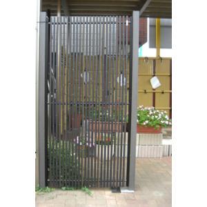 グローベン 人工竹垣 縞クラシック スリム H1800 木目 栗柱 基本セット|kantoh-house