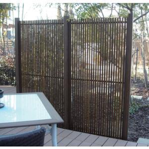 グローベン 人工竹垣 縞クラシック スリム H1800 ブロンズ柱 基本セット kantoh-house