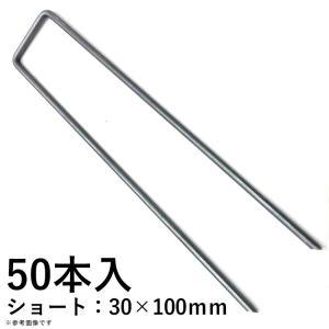 人工芝用U字ピン 人工芝固定用 50本入り ショート 30×100mm|kantoh-house