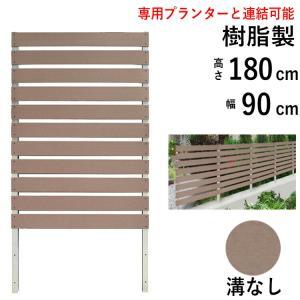 フェンス ガーデン 目隠し おしゃれフェンス ガーデニング 木目調 樹脂製 高さ180cm×幅90cm フラットタイプ フェンス単体|kantoh-house