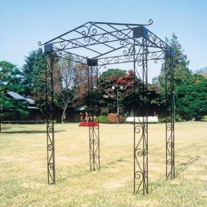 アイアン製のパーゴラ 4本脚のパーゴラ つる性の植物を這わせれば素敵なエクステリアに マウンテンパーゴラ ガーデンアーチ|kantoh-house