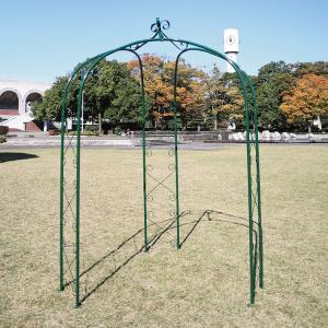 アイアン製のガーデンアーチ 3本脚で安定性があり つる性の植物を這わせれば素敵なエクステリアに ガーデンアーチ タイプL|kantoh-house