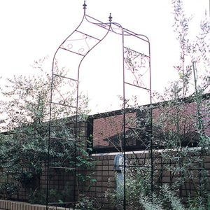 重厚なアイアン製バラ等のつる性植物に最適なガーデンアーチ ガーデンアーチ タイプA|kantoh-house