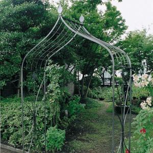 重厚なアイアン製バラ等のつる性植物に最適なガーデンアーチ ガーデンアーチ タイプB|kantoh-house