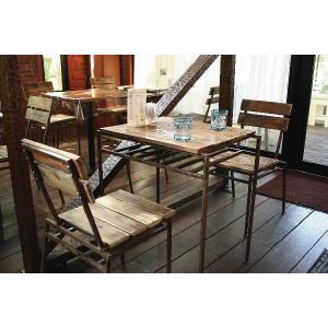 テーブルセット(アンティーク) カフェ、ヴィンテージ風テーブル+チェア2脚 セット|kantoh-house