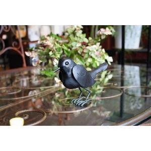 小鳥の置物 とりのオブジェ 金属製 鳥オーナメント バード (34136) kantoh-house