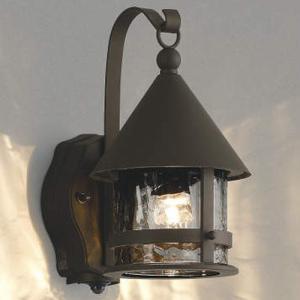 玄関照明 玄関灯 LED一体型 おしゃれ 人感センサ付 ポーチライト 茶色|kantoh-house