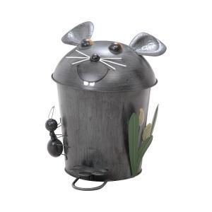 アニマル ダストボックス ごみ箱 ペダル式 ふた付き アンティーク調 ダストビン マウス|kantoh-house