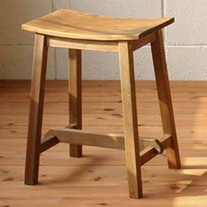 スツール イス 木製イス 椅子 アンティーク 北欧 カフェ おしゃれ ガーデンファニチャースツールS|kantoh-house