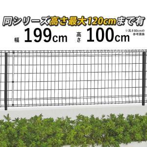 フェンス メッシュフェンス ネットフェンス  ニュープロメッシュフェンス 1F型 H1000 本体 ニュー・プロメッシュフェンス|kantoh-house