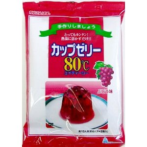 かんてんぱぱ カップゼリー80℃ ぶどう味 (約6人分X5袋入) 2個セット