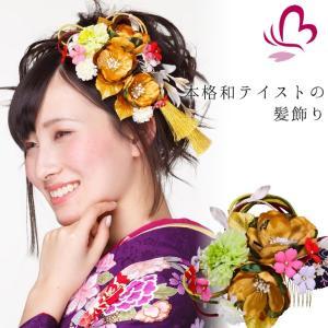 花 髪飾り セット 209815gl かんざし 2点セット ...