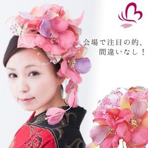 花髪飾りセット シャレード244515p  ピンク 桃色 ヘッドドレス 成人式 振袖 髪飾り 卒業式 袴 髪飾り 結婚式 和服 和装 着物 浴衣 kanzashi
