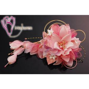 大き目花髪飾り 258615p ピンク 桃色 大輪 成人式 振袖 髪飾り 卒業式 袴 髪飾り 結婚式 和服 和装 着物 浴衣|kanzashi