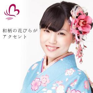 卒業式 袴 髪飾り かんざし ピンク 振袖 成人式 髪飾り 和装 着物 花髪飾りセット 結婚式 水引 髪飾り kanzashi