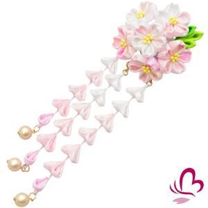 つまみ細工 髪飾り かんざし さくら 桜 ピンク 成人式 振袖 髪飾り 卒業式 袴 髪飾り 結婚式 和服 和装 着物 浴衣 kanzashi