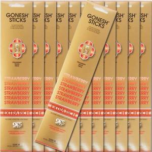 GONESH ガーネッシュ STRAWBERRY ストロベリー お香 スティックタイプ 12個セット|kaori-market