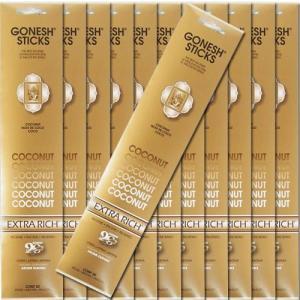 GONESH ガーネッシュ Coconut ココナッツ お香 スティックタイプ 12個セット|kaori-market