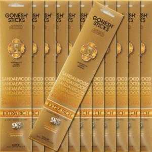 GONESH ガーネッシュ Sandalwood サンダルウッド お香 スティックタイプ 12個セット|kaori-market