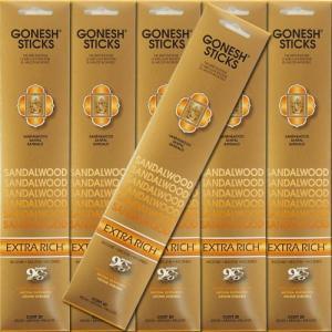 GONESH ガーネッシュ Sandalwood サンダルウッド お香 スティックタイプ 6個セット|kaori-market
