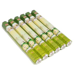 お香 グリーンアップル アロマ HEM ヘム スティック 6個セット|kaori-market