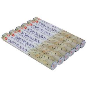 お香 ホワイトセージ アロマ HEM ヘム スティック 6個セット|kaori-market