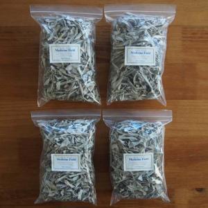 ホワイトセージ 浄化 無農薬 ゴールド ルーズリーフ 100g×4パック|kaori-market