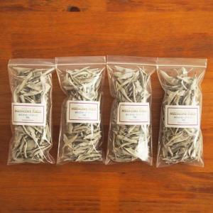 ホワイトセージ 浄化 無農薬 リーフ25g×4パック|kaori-market