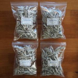 ホワイトセージ 浄化 無農薬 スーパーゴールド ルーズリーフ 50g×4パック|kaori-market