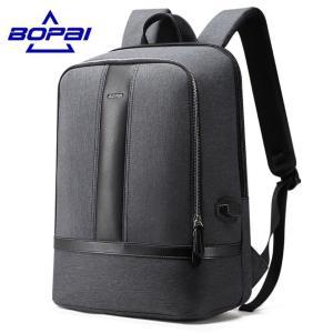 メンズ ビジネスリュック ビジネスバッグ 20L BOPAI 鞄 通勤 出張 カジュアル リュックサック USB 充電 フォーマル 大容量 軽量 防水 kaoru-shop