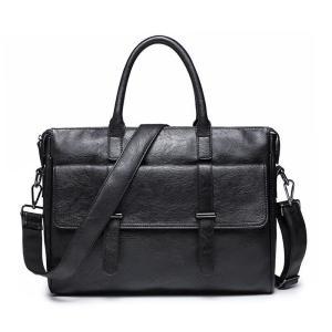 2way メンズ ビジネス  バッグ トートバッグ ショルダーバッグ トート 斜めがけ おしゃれ フォーマル 通勤 PU革 ブリーフケース|kaoru-shop