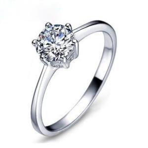 セール価格!レディース  シルバー指輪 シルバーリング 6本爪 一粒 大人の輝き 女性 彼女 指輪レディース アクセサリー ジルコニア 925純銀 プラチナ|kaoru-shop