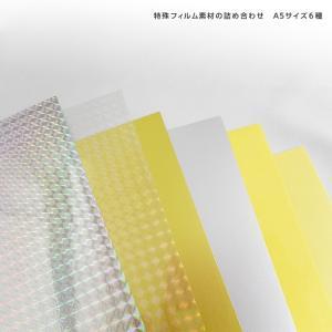 シール用紙A5サンプルセット 特殊フィルム6種各1枚/1セット kapita